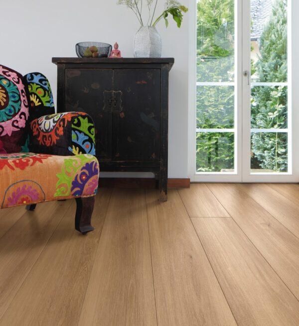 Viser gulvstruktur og farve