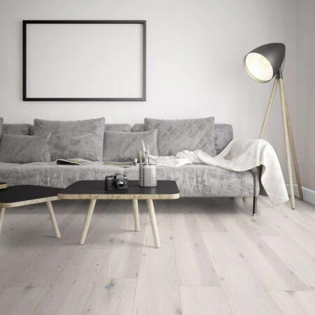 A02 Dureco Eg Alabaster. Planke lys grå knaster